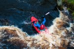kayaker on the River Washburn