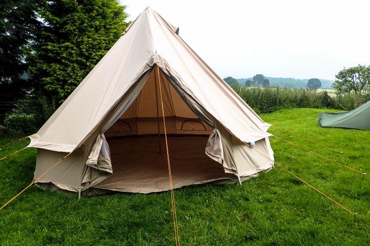 Bell Tent, door open